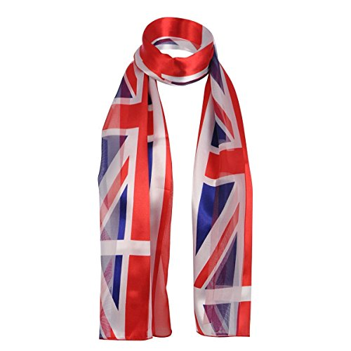"Cloud9basic Unisex Patriotic Irish/Scottish/UK Flag Satin Stripe Scarf, Perfect Item for Sports Games or National Events, Size: 35 x 150cm (13 x 58"")"