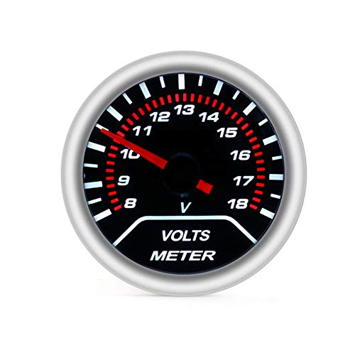 Fxhan Car Voltmeter 52mm Car Modification Part Auto Vehicle Racing Supplies Universal 12V