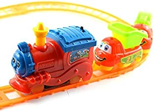 Days Off Newest Mini Toy Train Railway Track Play Set Battery Operated 9 Pcs
