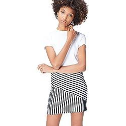 FIND Falda Mini de Rayas para Mujer , Negro (Black/white Striped), 46 (Talla del Fabricante: XX-Large)