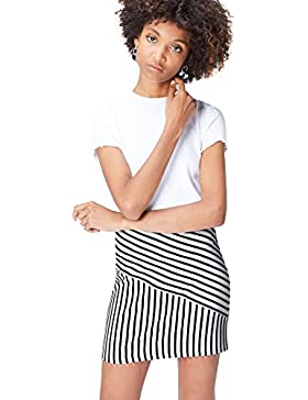 FIND Falda Mini de Rayas para Mujer