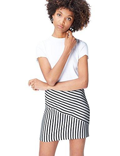 FIND Damen Rock Stripe Schwarz (Black/White Striped), 42 (Herstellergröße: X-Large) (Rock Gestreiften)