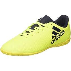 adidas X 17.4 In J, Zapatillas de Fútbol Sala Unisex Niños, Amarillo (Amasol/Tinley/Tinley), 33 EU