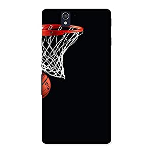 Enticing Basket Ball Multicolor Back Case Cover for Sony Xperia Z