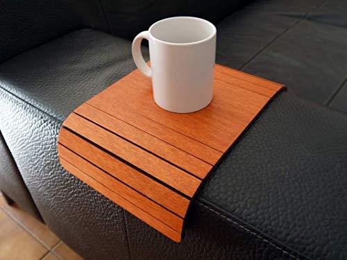 Holz sofa armlehnentisch in vielen farben wie kirsche Armlehnentablett Moderner tisch für couch Klein schleichendes sofatisch Armlehne flexibel tablett Falten couchtisch Kleine tische