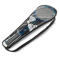 Badminton set including 2 shuttlecocks and 2 badminton rackets