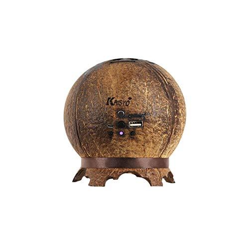 qiyanCreative Kokosnussschalen Lautsprecher Drahtlose Bluetooth Home Subwoofer Mini Lautsprecher Mini Stereo Zen Geschenk Ornamente