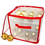 Weihnachtskugeln aufbewahrungsbox - Kugelkiste Kugelschachtel - Weihnachten christbaumkugel box Idealer stilvoller Festtagsbehälter für Weihnachtsdekorationen & Baumschmuck Aufhänger Aufbewahrung