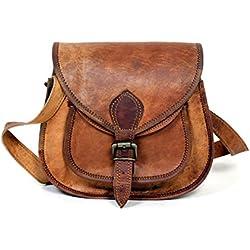 Sac à main de sac à main de sac à main de dames en cuir véritable fait à la main, sac en cuir en cuir pour des femmes