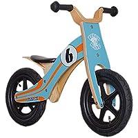 "Rebel Kidz Wood Air - Bicicletas sin pedales Niños - 12"" Le Mans naranja/Turquesa 2017"