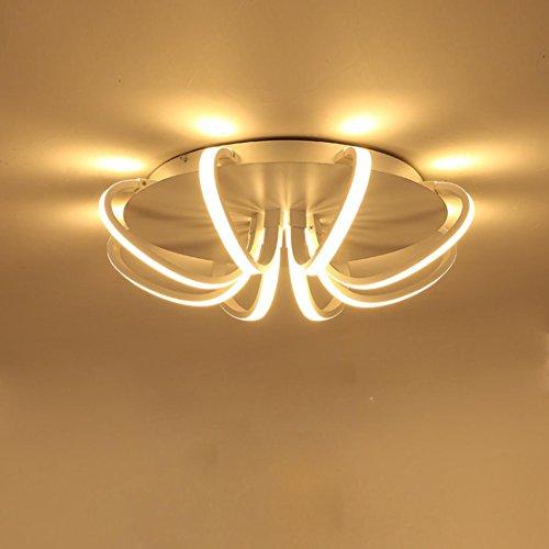 kreative 8-Lichtleisten Design Decke Lampe LED Deckenleuchte Moderne Mode Deckenlampe Innen Direkt Beleuchtung Metall Acryl Leuchter Schlafzimmer Wohnzimmerleuchte Esszimmerlampe Stufenlos Dimmbar 50W