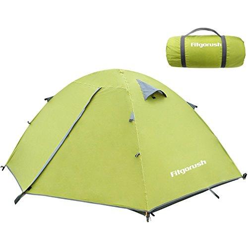 Fitgorush Campingzelt 2 - 3 Mann Personen Wasserdicht Leicht Zelt Doppelwandig Kuppelzelt Trekkingzelt für Camping Outdoor Ultraleicht 5000mm 5000 Wassersäule
