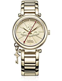 Vivienne Westwood Women's Kensington II Quartz Watch with Gold Dial Analogue Display and Gold Stainless Steel Bracelet VV006KGD