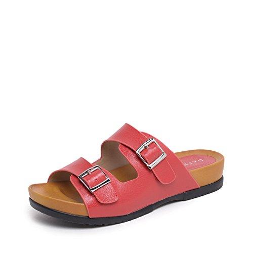 Semplice Velcro Sandali in estate/ Sandali donna spessore basso/Pantofole A