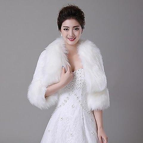 Matrimonio avvolge / pelliccia wrap / pelliccia Cappotti Giacche/Cappotti 3/4-Length manica finto avorio
