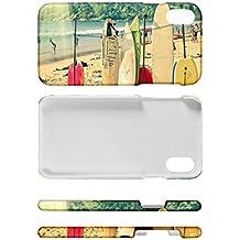 Funda Protectora Carcasa para iPhone 8 Nostálgico Tablas de surf