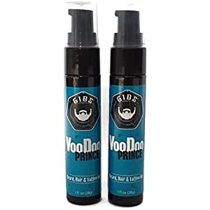 GIBS Beard & Tattoo Oil Value 2 PACK - Voo Doo Prince, Value Pack by GIBS …