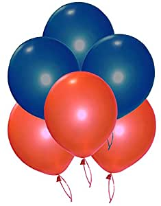 Grand Shop 50199 Balloons, Red/Blue (Pack of 50)