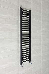Largeur: 300 mm x 1200 mm sèche-serviettes plat Companyblue Radiateur Noir