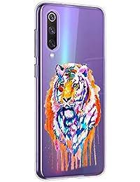 Oihxse Compatible con Sony Xperia 5 Funda Suave Gel TPU Silicona Cristal Transparente Carcasa Acuarela Animal Pintado Patrón Protectora Estuche Bumper Caso Case (B7)