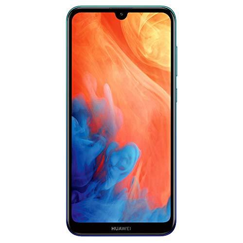 Huawei Y7 2019 Dual-SIM Smartphone 15,9 cm (6,26 Zoll) (4000mAh Akku, 32 GB interner Speicher, 3GB RAM, Android 8.0) aurora blue Gps 18 X Pc