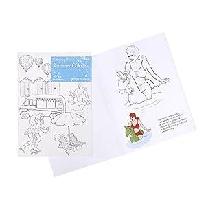 Colori Estivi Libro da Colorare: attività Artistica e Prodotti Specifici per Le Persone Affette da Demenza/Alzheimer