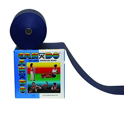 Cando 10-5694 Perforierte latexfreie Übungsbänder, 100 Yard, schwer, Blau (Cando-übungsband)