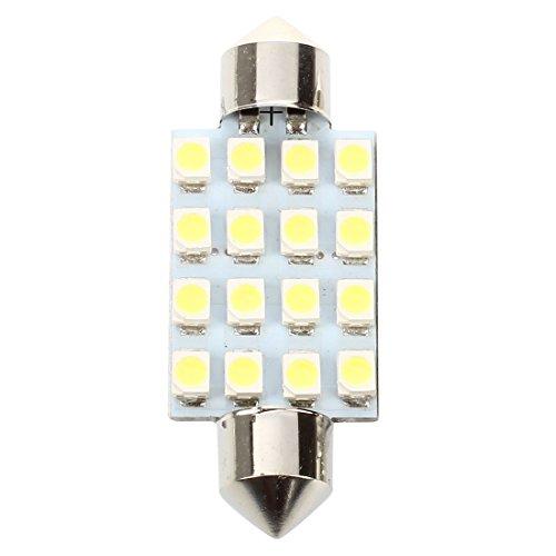 SODIAL(R) 8 Pcs 41mm 16-SMD LED Ampoules Dome Feston Blanc 211-2 212-2 569