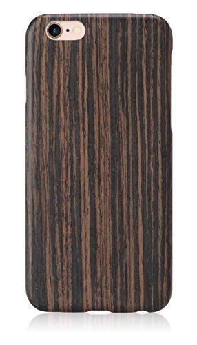 pitaka iPhone 6 Plus/iPhone 6s Plus Hülle [Aramidkern Holz Serie] Ultra schlanke Schutzhülle aus Natürlichem Holz für iPhone 6 Plus/iPhone 6s Plus (5,5 Zoll), Ebenholz