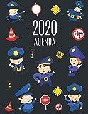 Police Agenda 2020: Gendarmerie Planificateur Mensuel   Janvier à Décembre 2020   Pour l'Organisation à la Maison ou au Bureau