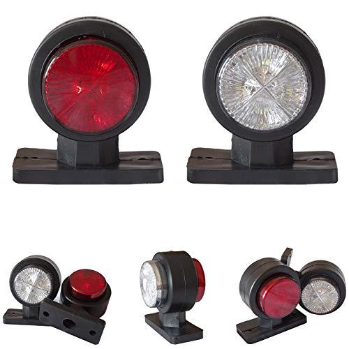 2x LED 12V 24V Volt Begrenzungsleuchten Positionsleuchten Seitenleuchten LKW PKW Anhänger Leuchten