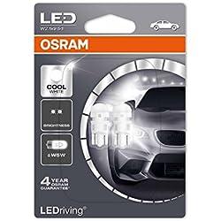 OSRAM LED Premium Retrofit W2.1x9.5d W5W Intérieur 2880CW-02B Cool White 12V Blister Double Set de 2