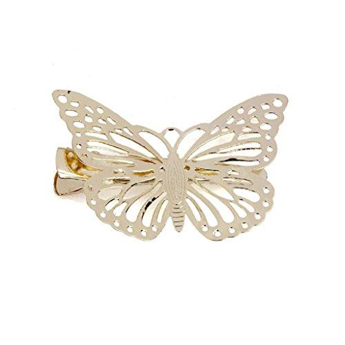 VJGOAL Damen Haarschmuck, Mädchen Goldener Schmetterling Hair Clip Stirnband Haarschmuck Kopfbedeckung Frau (Gold)