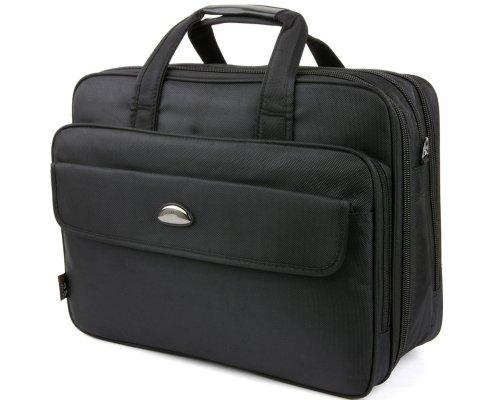 Hommes sac à main de 16-17 pouces en nylon pour ordinateur portable sac d'affaires Porte-documents à bandoulièr contient les fichiers A4 Noir