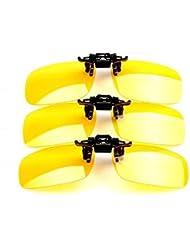 THG 1 Pedazo de Clip Amarillo En gafas de sol polarizadas UV400 (Big Tama?o: 58 * 37mm)