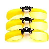 THG 1 Pedazo de Clip Amarillo En gafas de sol polarizadas UV400 (Big Tama?