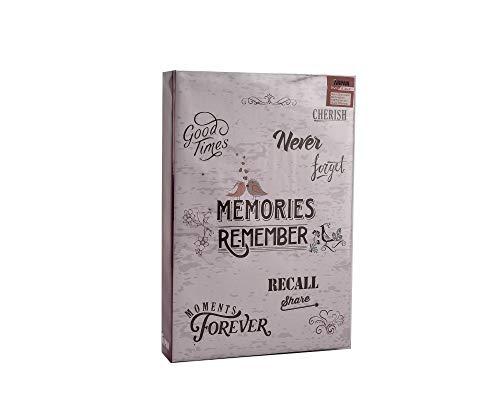 ARPAN Fotoalbum für 300 Fotos à 10 x 15 cm mit Platz für Memos neben jedem Foto und Einsteckseiten, Erinnerungen, 22 x 4,5 x 33 cm (Inspirierende Scrapbook-papier)