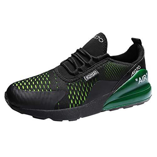 CUTUDE Herren Laufschuhe Sportschuhe Sneaker Fitnessschuhe Laufschuhe Licht Gym Turnschuhe Trekking Wanderhalbschuhe (Grün, 41 EU)