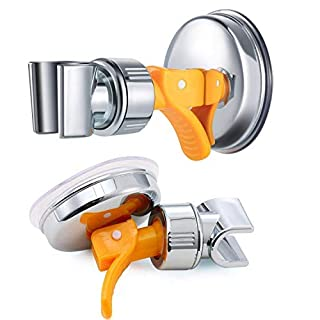 nuosen Shower Head Holder, Adjustable Removable Handheld Shower Head Bracket With Powerful Vacuum Suction Cup