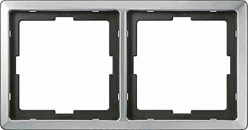 Preisvergleich Produktbild Merten 481246 Rahmen 2-fach edelstahl System Artec