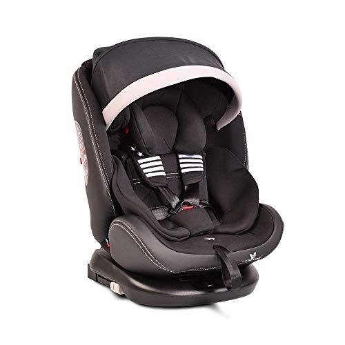 Cangaroo Kindersitz Pilot 0-36 kg Gruppe 0+/1/2/3, Isofix, drehbar, 165° Neigung black