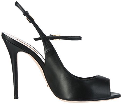 Sebastian Damen S7356cam.Aza+Tr Offene Sandalen mit Keilabsatz Schwarz (Black)