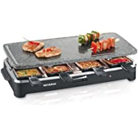 Severin RG 2343 - Raclette Grill con piedra (1500 W, 8 minisartenes, superficie antiadherente)