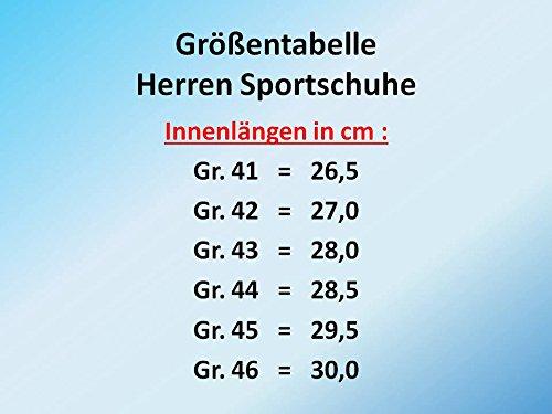 GIBRA® Herren Sportschuhe, sehr leicht und bequem, rot/schwarz, Gr. 41-46 Rot/Schwarz