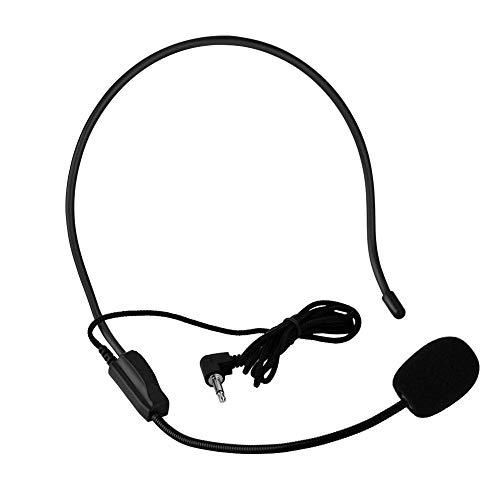 Microfono ad Archetto a Condensatore, Auricolare Wireless Professionale Amplificatore Vocale Altoparlanti Headset Megaphone Radio per Tour Guide, Teacher,Speaker con Connettore Jack 3,5mm