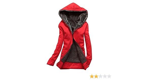 clothingloves Veste zippée à capuche en polaire chaude Longue Sweat à capuche