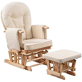 Kidzmotion Sereno Deluxe Maternity Nursing Gliding Chair (Includes Glide  Lock) With Matching Foot Stool