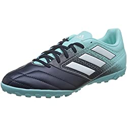 adidas Ace 17.4 TF, Scarpe da Calcio Uomo, Blu (Energy Aqua/Footwear White/Legend Ink), 44 EU