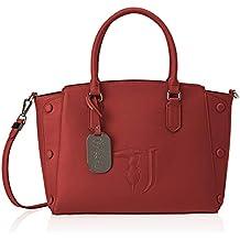 0501e4b18b Trussardi Jeans Melissa Tote Medium Bag Ecolea Borsa Donna, 21x24x13.5 cm (W