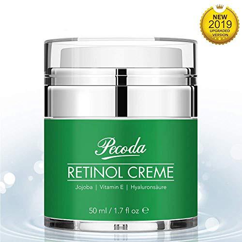 Anti-aging Anti-falten Feuchtigkeitscreme (Retinol Feuchtigkeitscreme Creme-2.5% Retinol anti falten/anti aging creme für gesicht und augen. Natürliche Hautpflege-Behandlung crème für Frauen und Männer. 50ml)